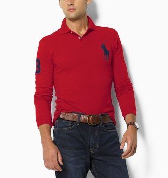 Ralph Lauren pánské polo triko červené velikost: M