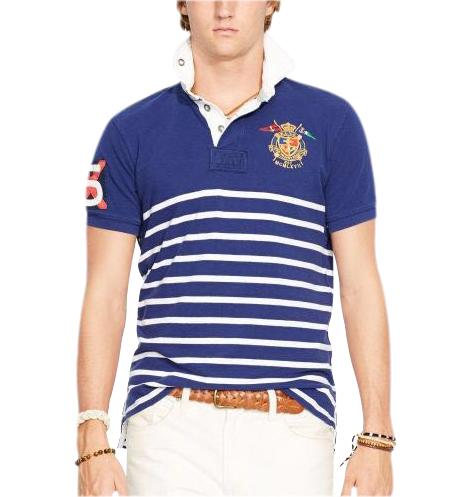 Ralph Lauren pánské polo modrobílé velikost: M