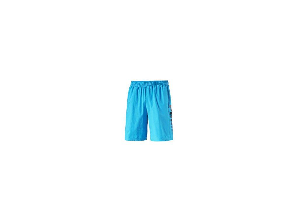 Puma fun big logo woven shorts atomic blue