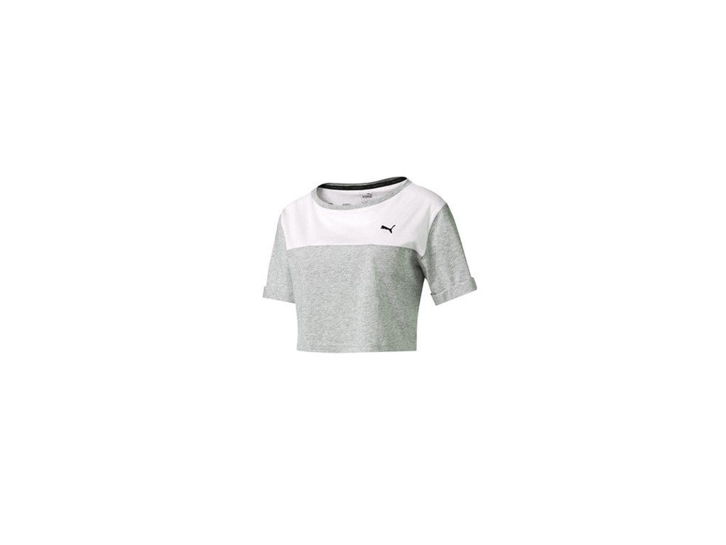 Puma Style Swagger Top W Light Gray Heather4