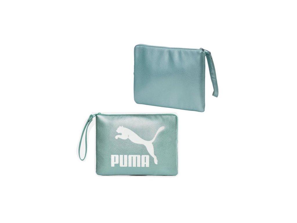 Puma Prime Pouch Metallic Aquaifer Metallic