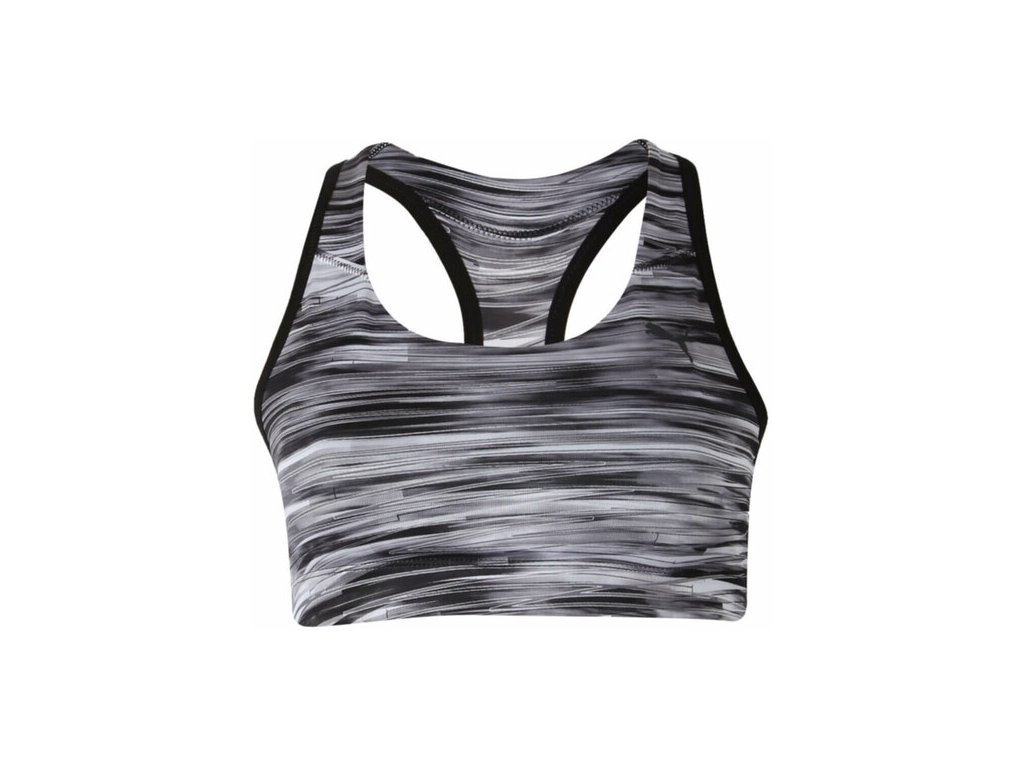 Puma WT Essential Graphic Bra Black White