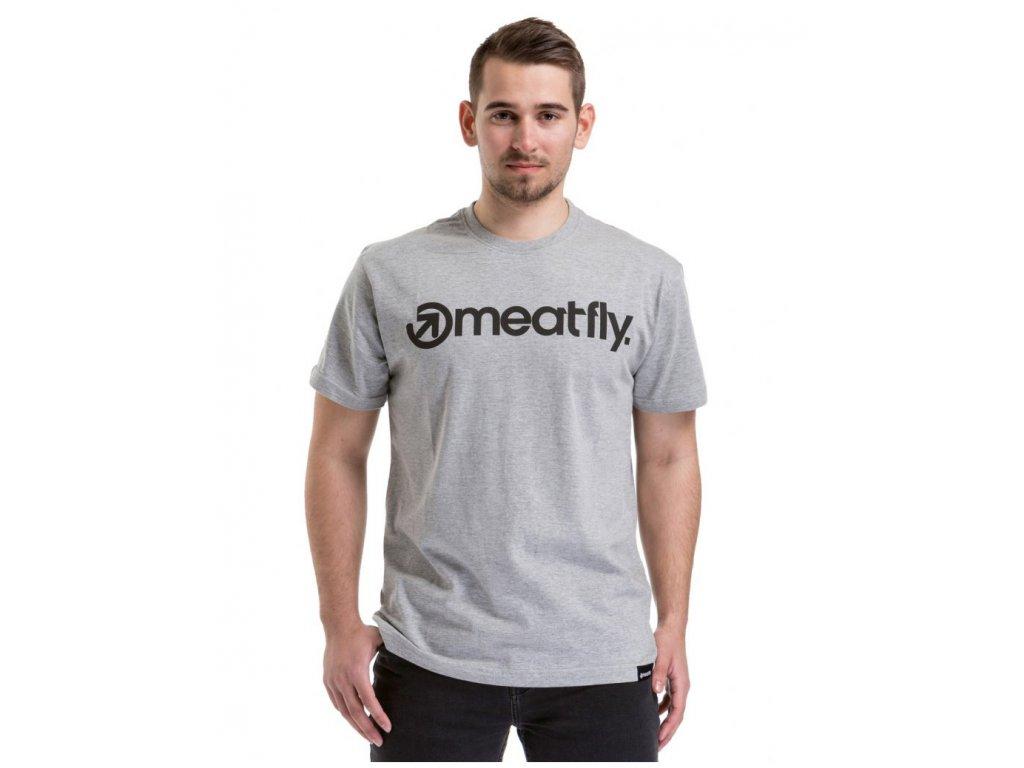 Meatfly Logo T-Shirt J - Heather Gray