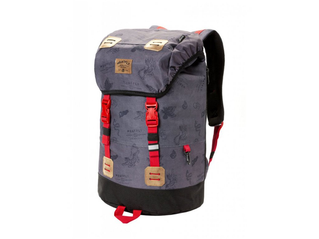 MEATFLY PIONEER 3 BACKPACK B STAMPS GREY