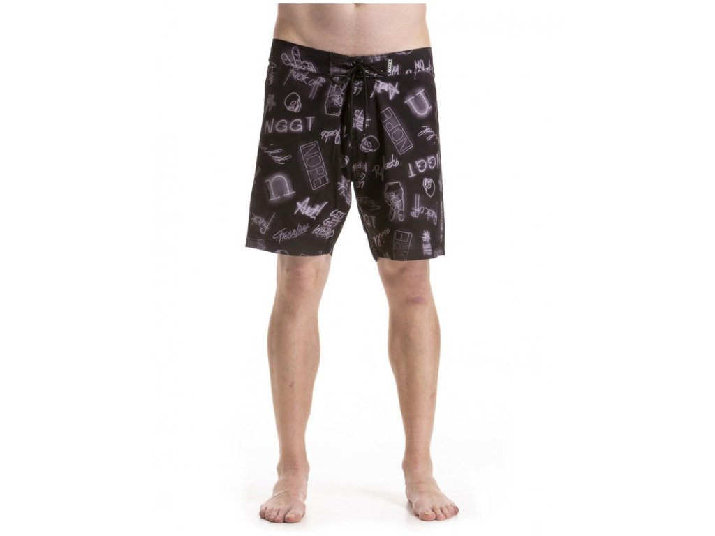 NUGGET COLBY BOARDSHORTS B NEON BLACK