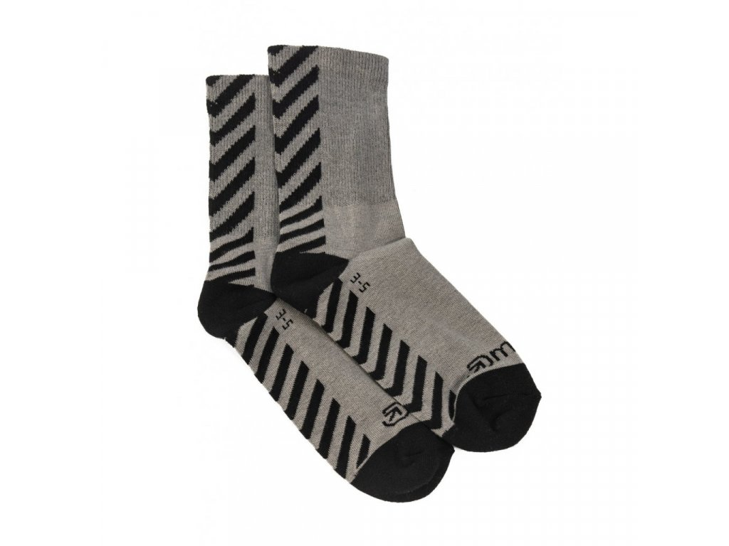 MEATFLY BOB LONG SOCKS B GREY, BLACK
