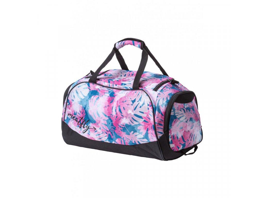 Cestovní taška MEATFLY Rocky 3 B Pink Leafs
