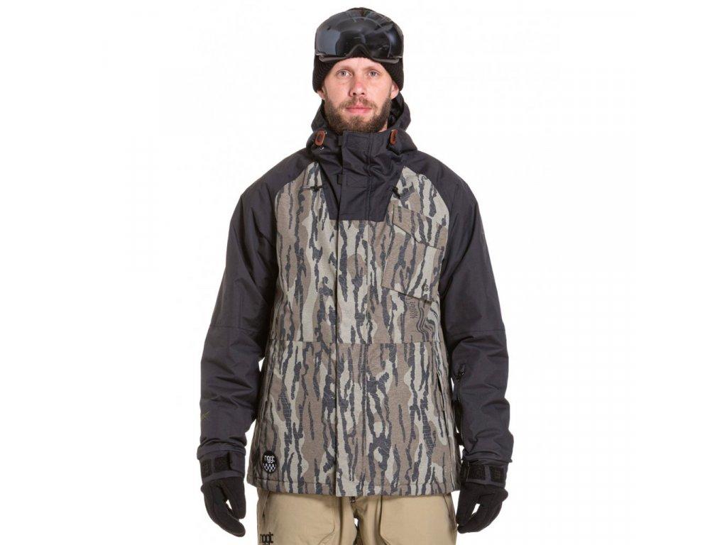 Snowboardová bunda Nugget Rover A Oak Olive, Black