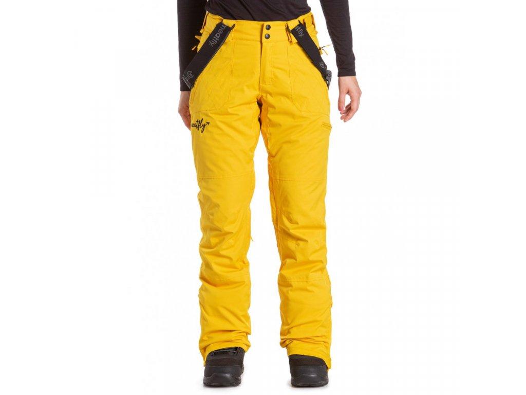 Snowboardové kalhoty Meatfly Foxy E Yellow Stripe