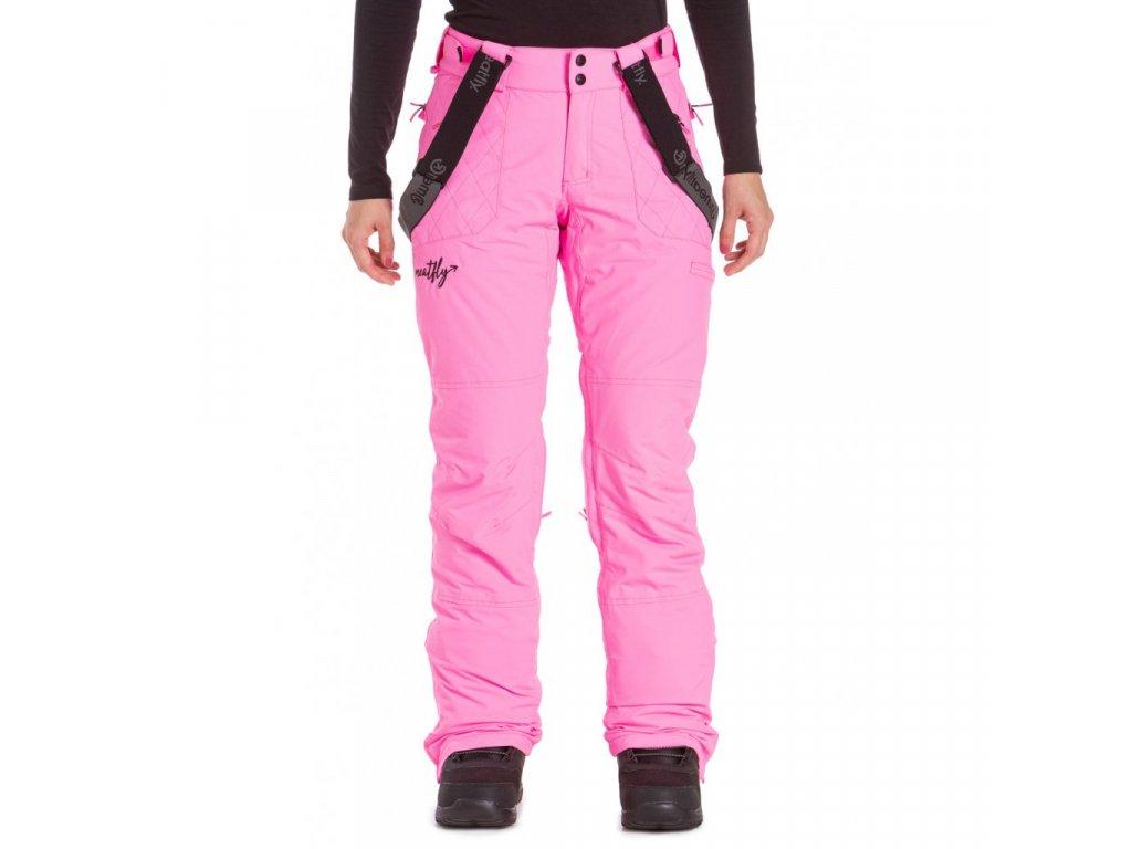 Snowboardové kalhoty Meatfly Foxy D Pink Killer
