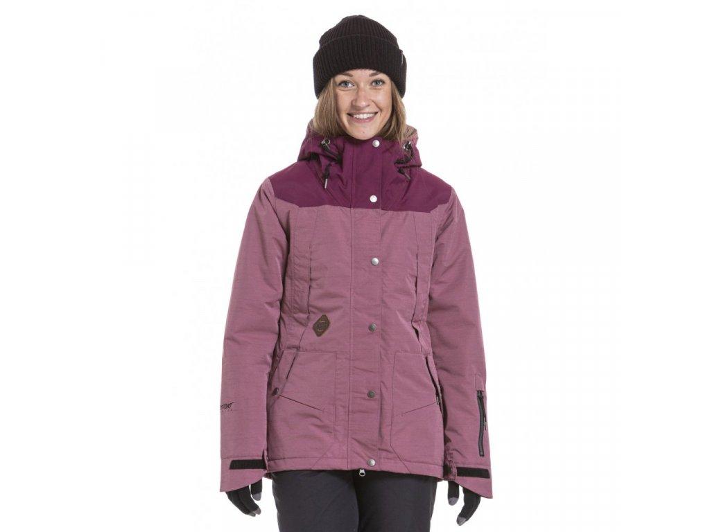 Snowboardová bunda Nugget Anja 5 F Grape Heather, Purple