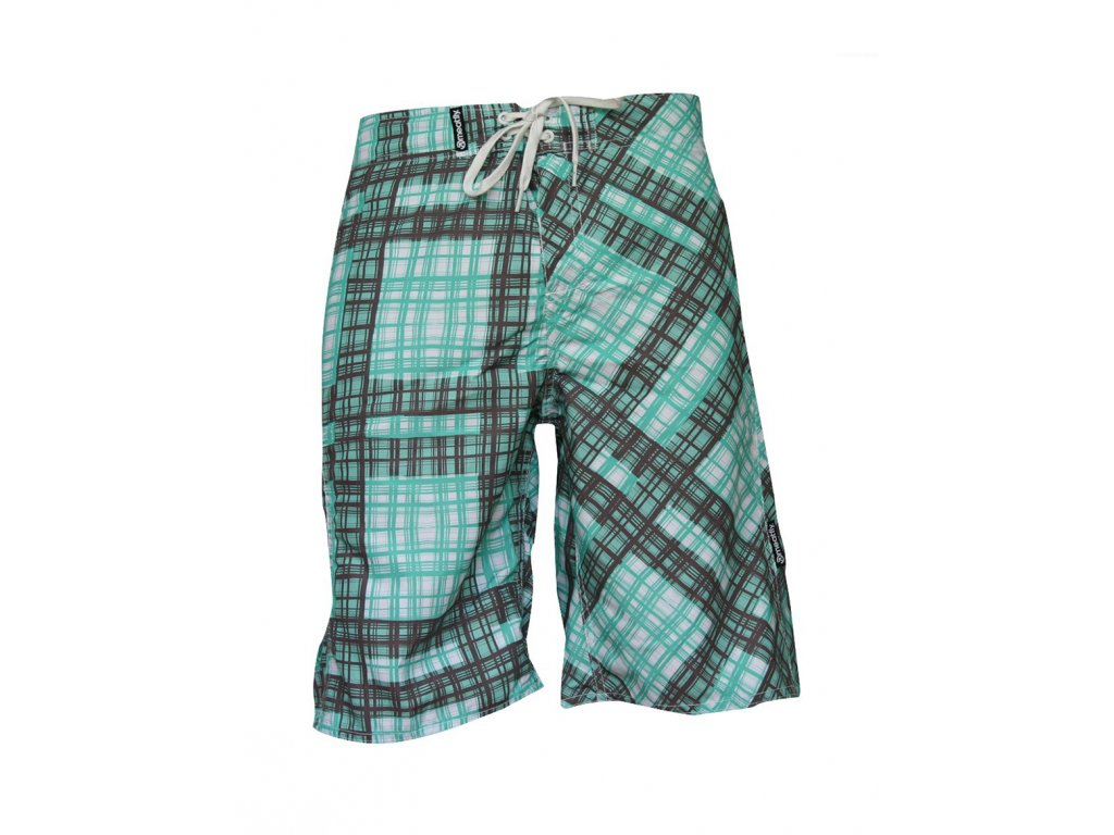 MEATFLY Swimshorts W Green/Brown A (Velikost XS)
