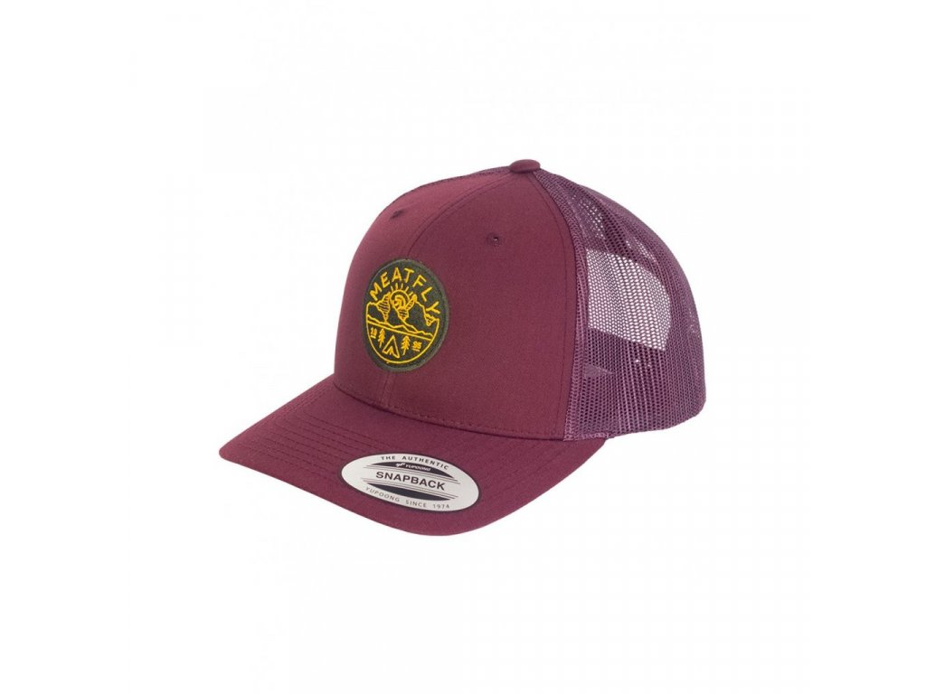 Meatfly View Trucker Yupoong A Maroon