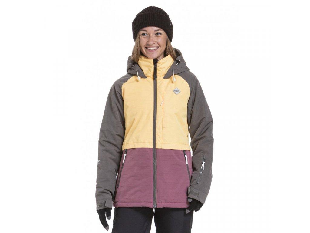 Snowboardová bunda Nugget Trish D Stone Heather, Sunrise Ht., Grape Ht.