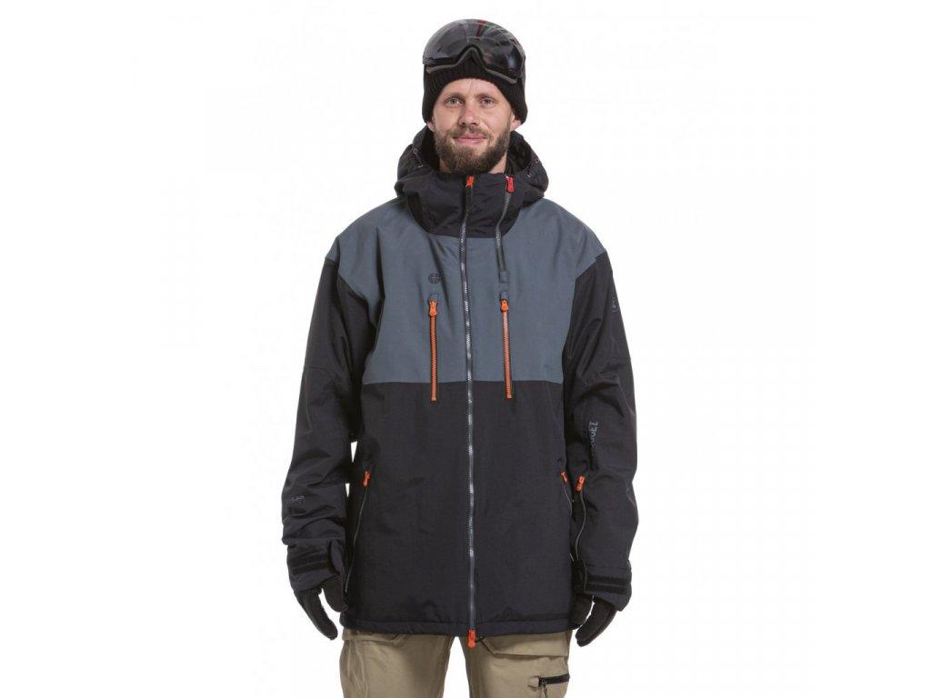 Snowboardová bunda Nugget Kestrel C Lead Grey, True Black
