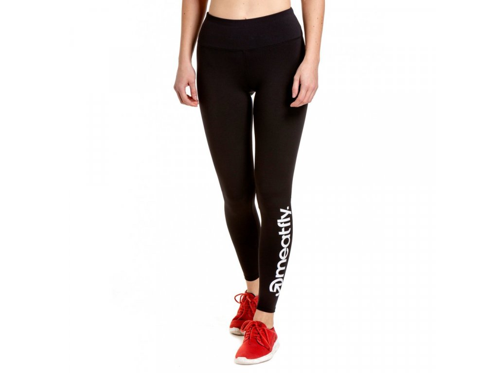 Meatfly Xena 2 Leggings (black) A White Logo