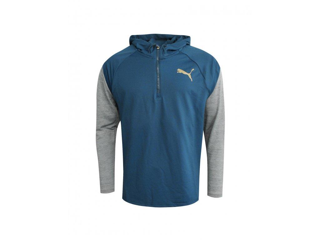 Puma Tech FLeece 1 4 Zip Sallor Blue