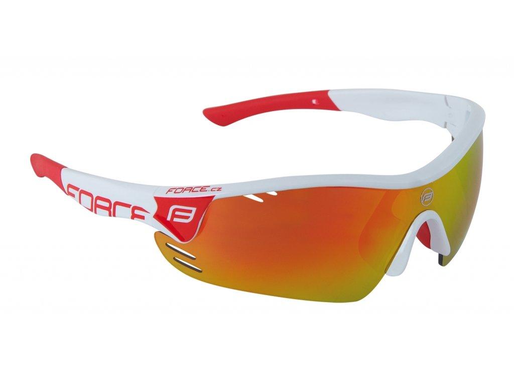 brýle FORCE RACE PRO bílo červené, červená skla