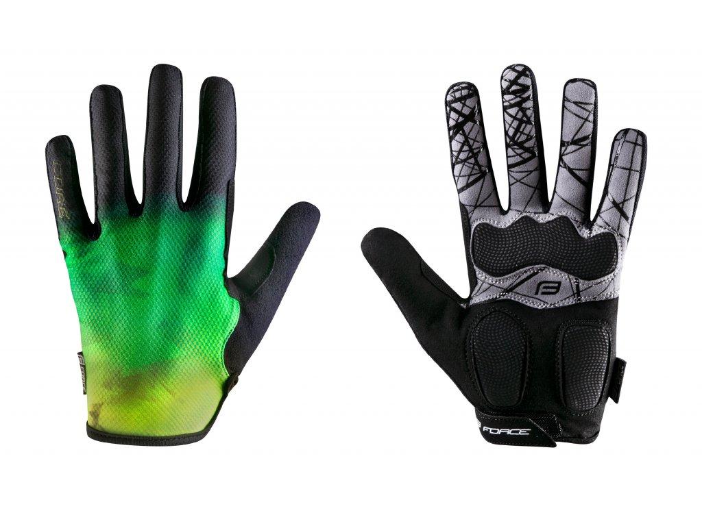 rukavice FORCE MTB CORE letní, fluo zelené