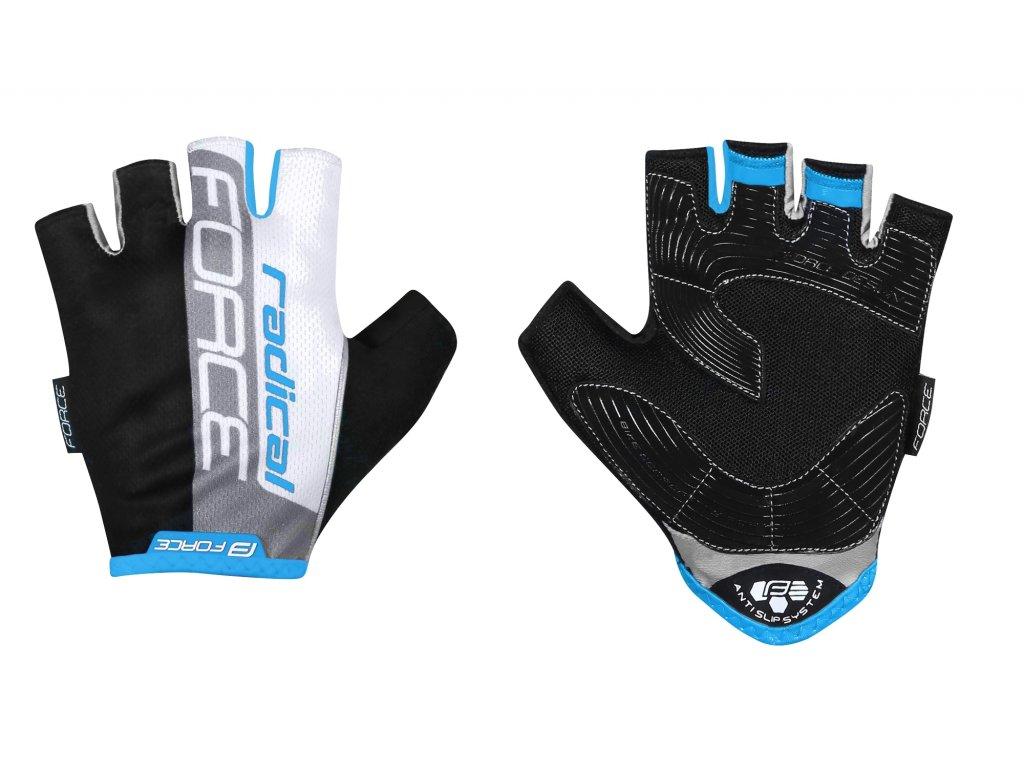 rukavice FORCE RADICAL, černo bílo modré