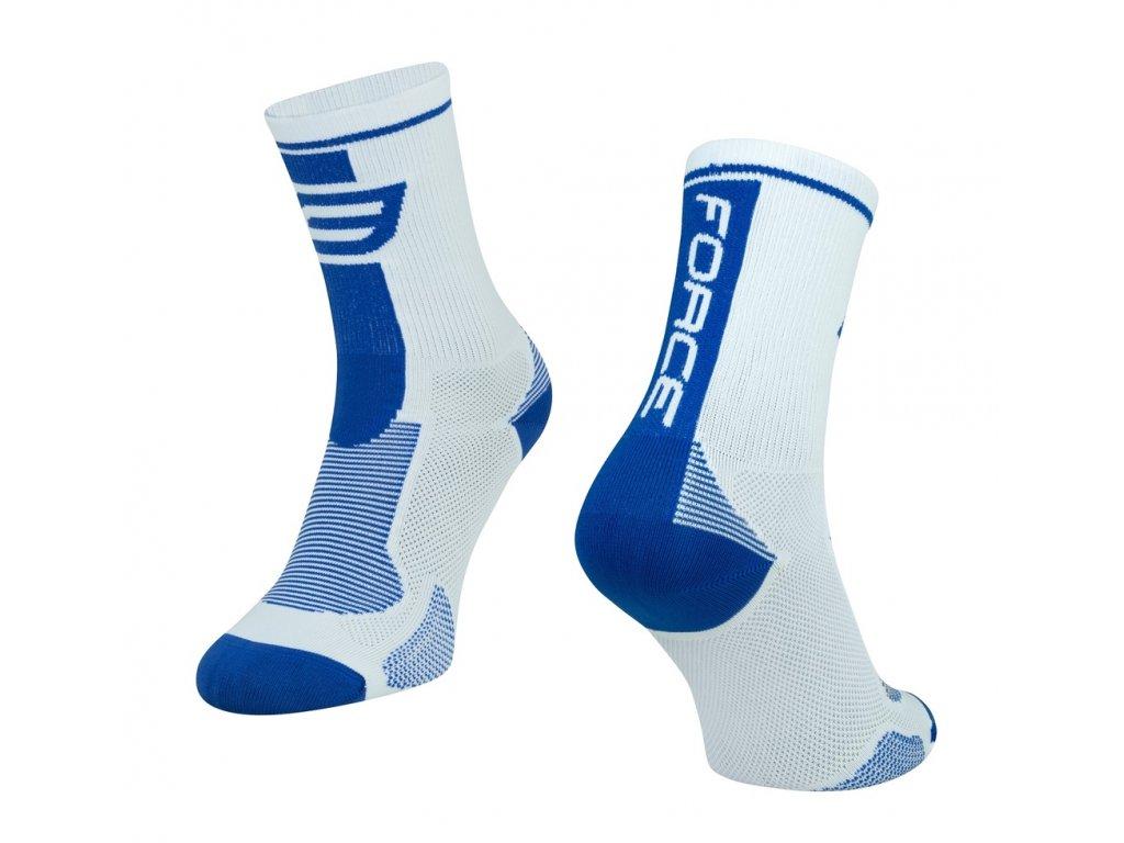 ponožky force long bílo modré