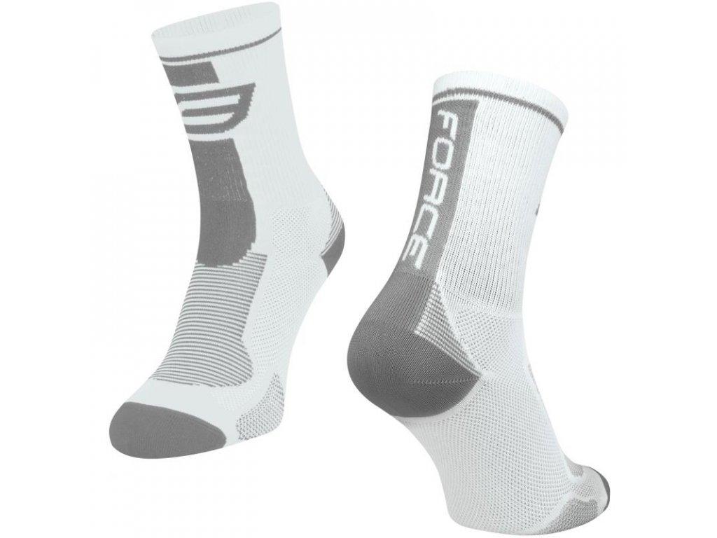 ponožky force long bílo šedé