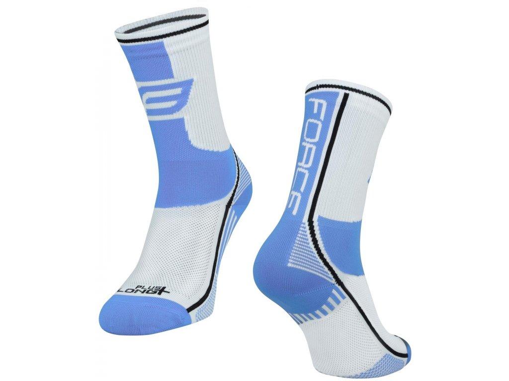 ponožky force long plus světlemodro