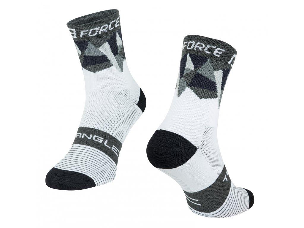 ponožky F TRIANGLE, bílo šedo černé