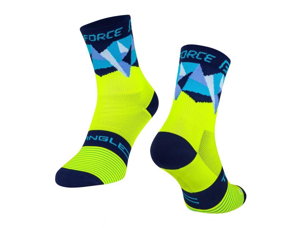 ponožky F TRIANGLE, fluo modré