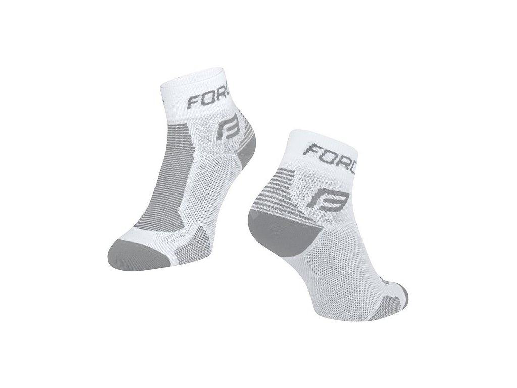 ponozky force 1 bilo šedé