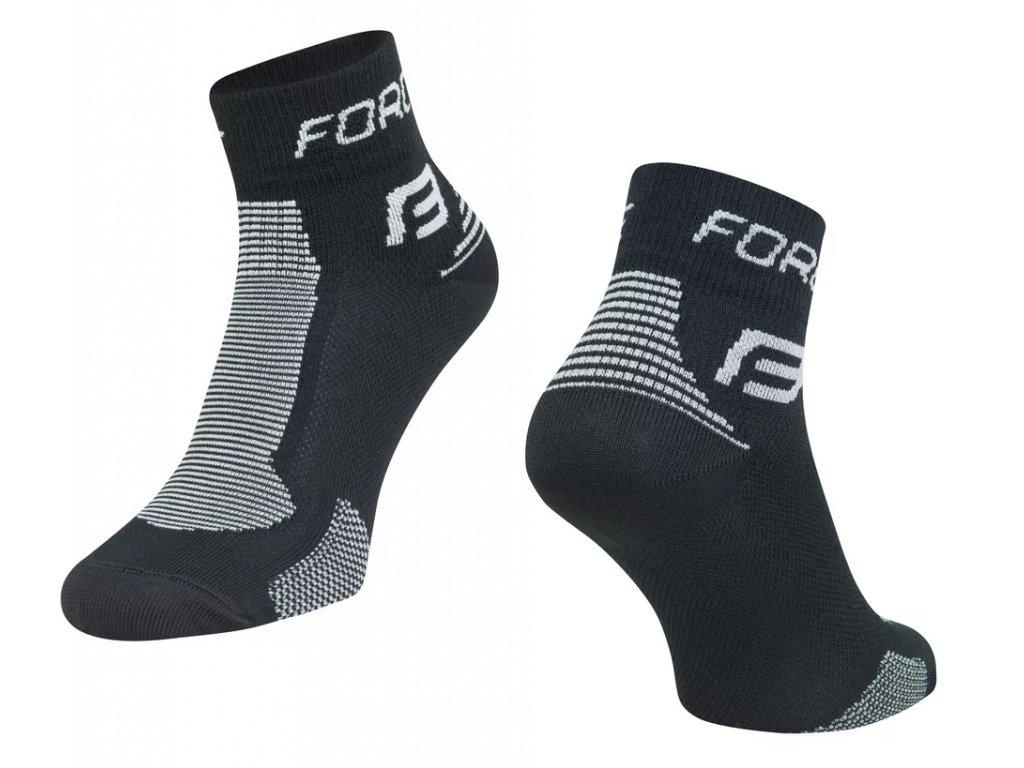 ponozky force sport 1 černo šedé 1