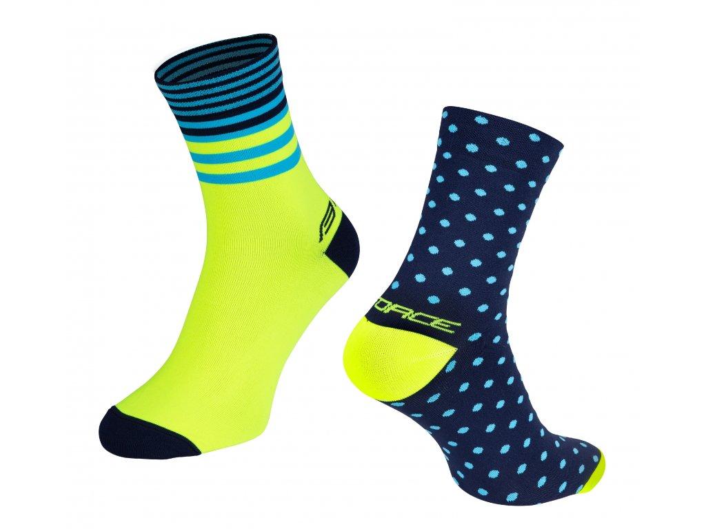 ponožky FORCE SPOT, modro fluo