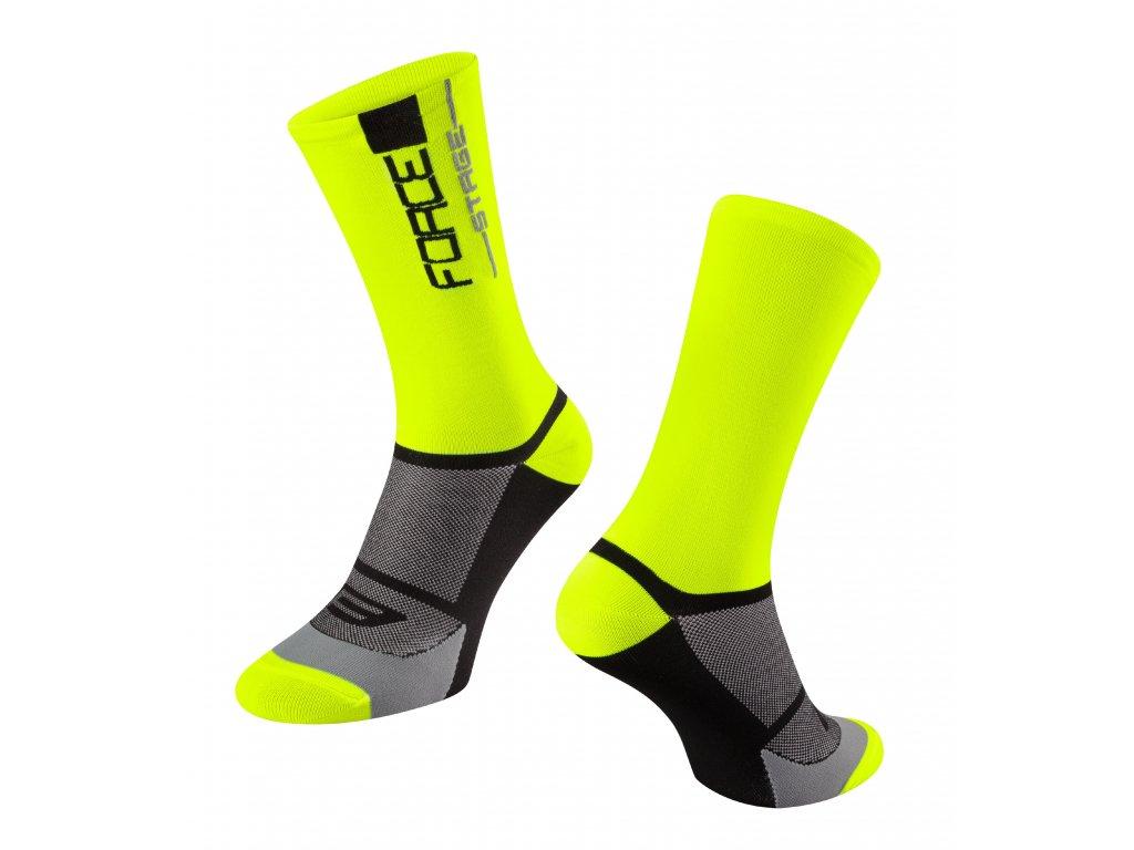 ponožky FORCE STAGE, fluo černé