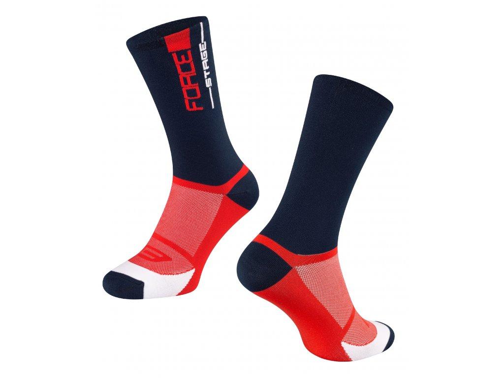 ponožky FORCE STAGE, modro červené
