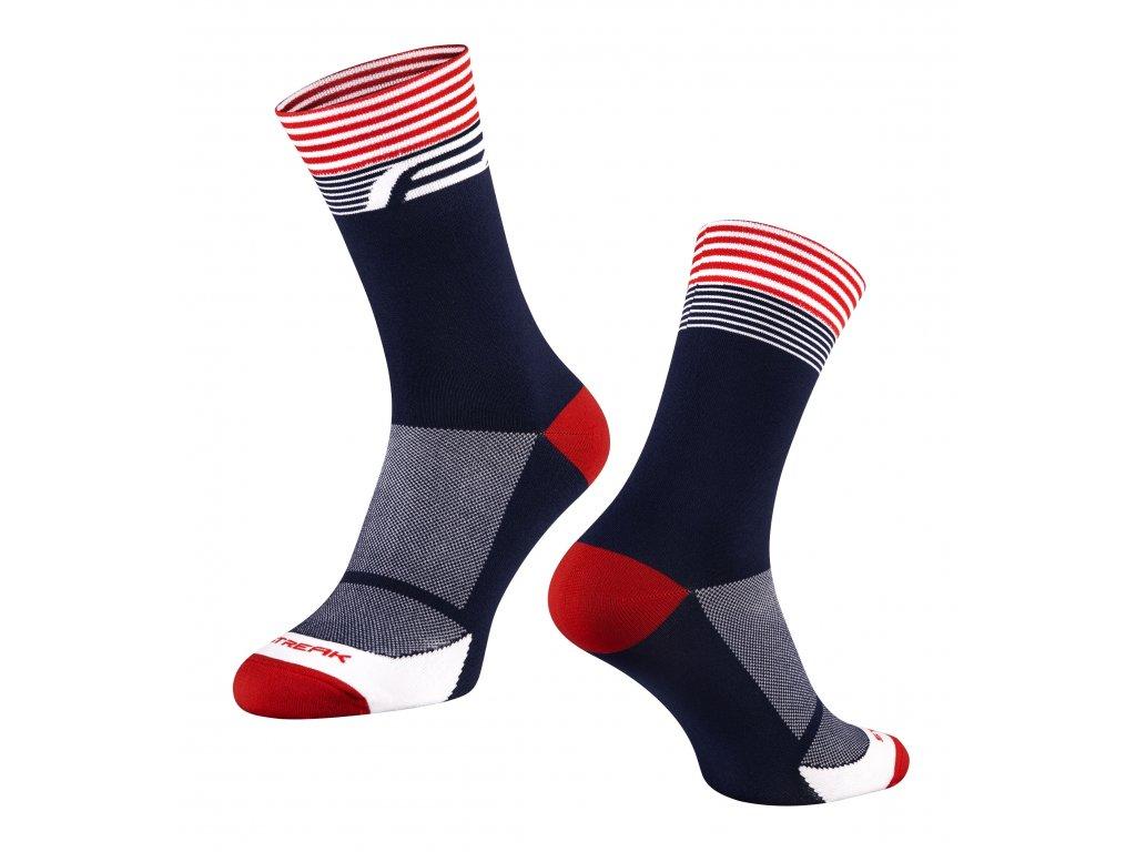 ponožky FORCE STREAK, modro červené