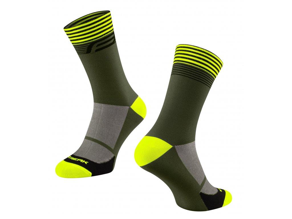 ponožky FORCE STREAK, zeleno fluo