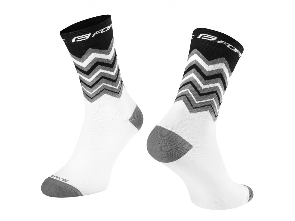 ponožky FORCE WAVE, černo bílé