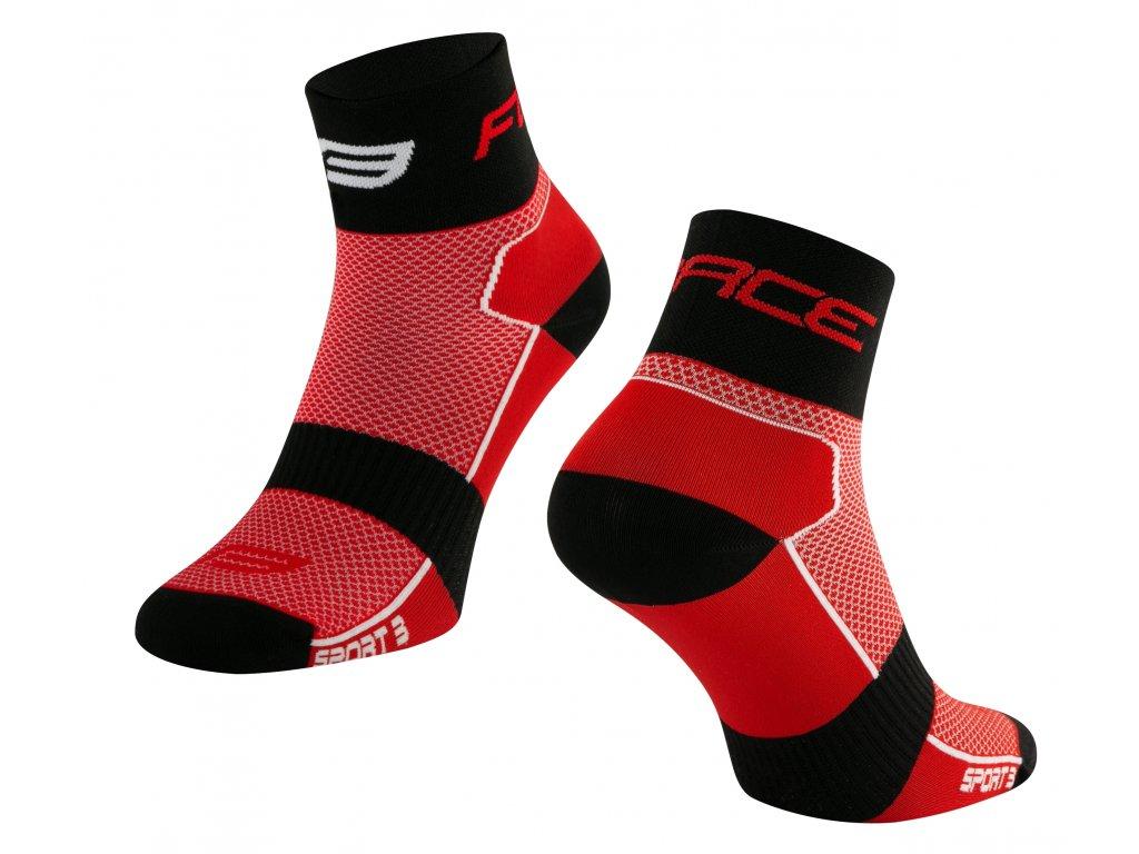 ponožky FORCE SPORT 3, červeno černé