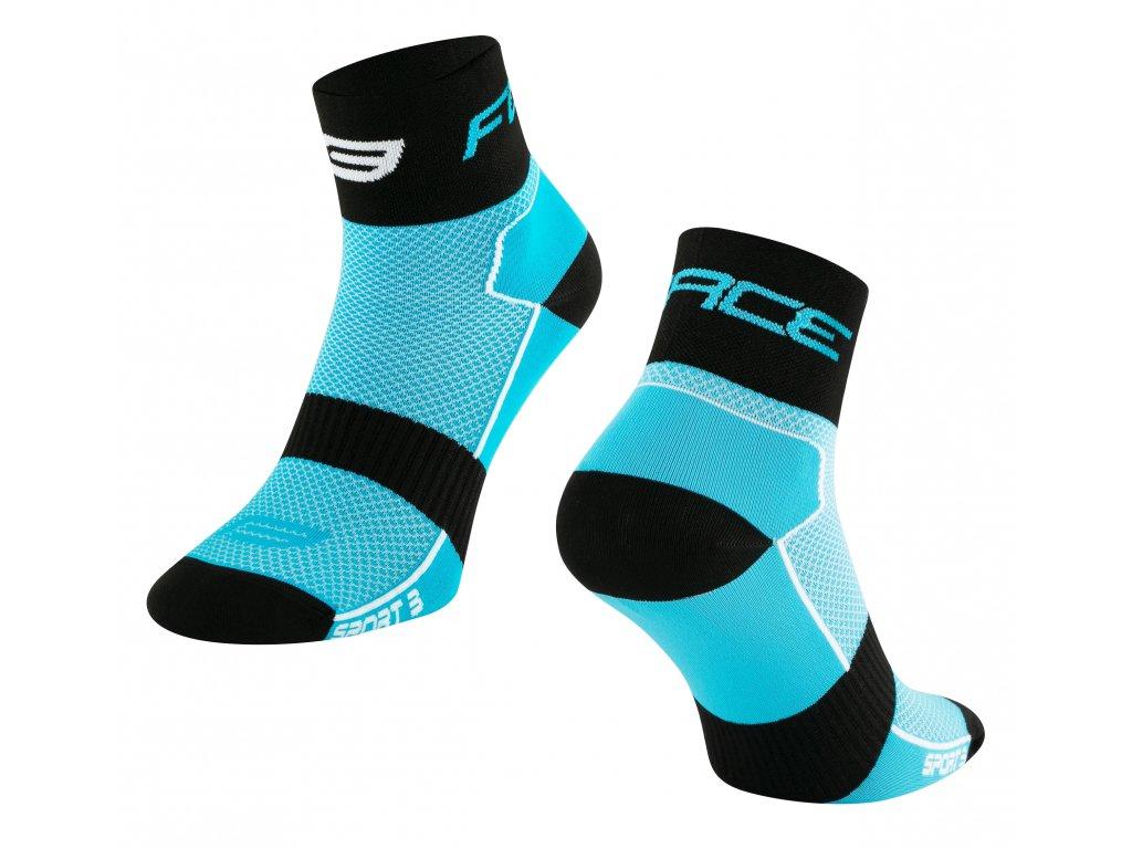 ponožky FORCE SPORT 3, modro černé