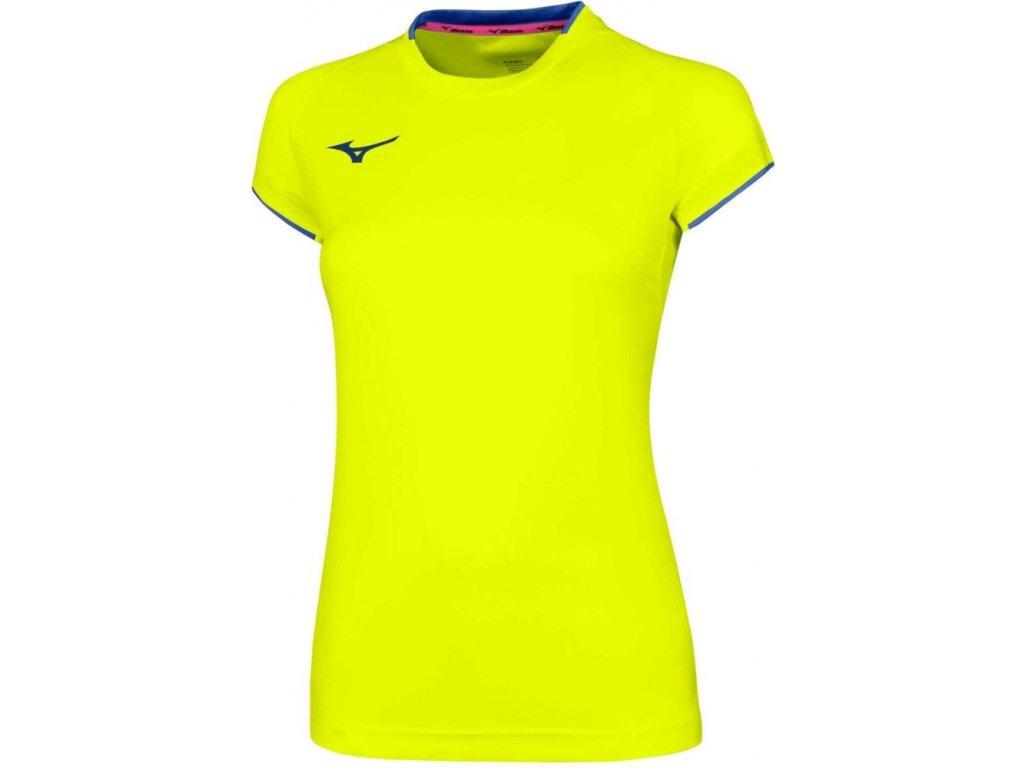 dámské tričko Mizuno Core SS Yellow Fluo Royal