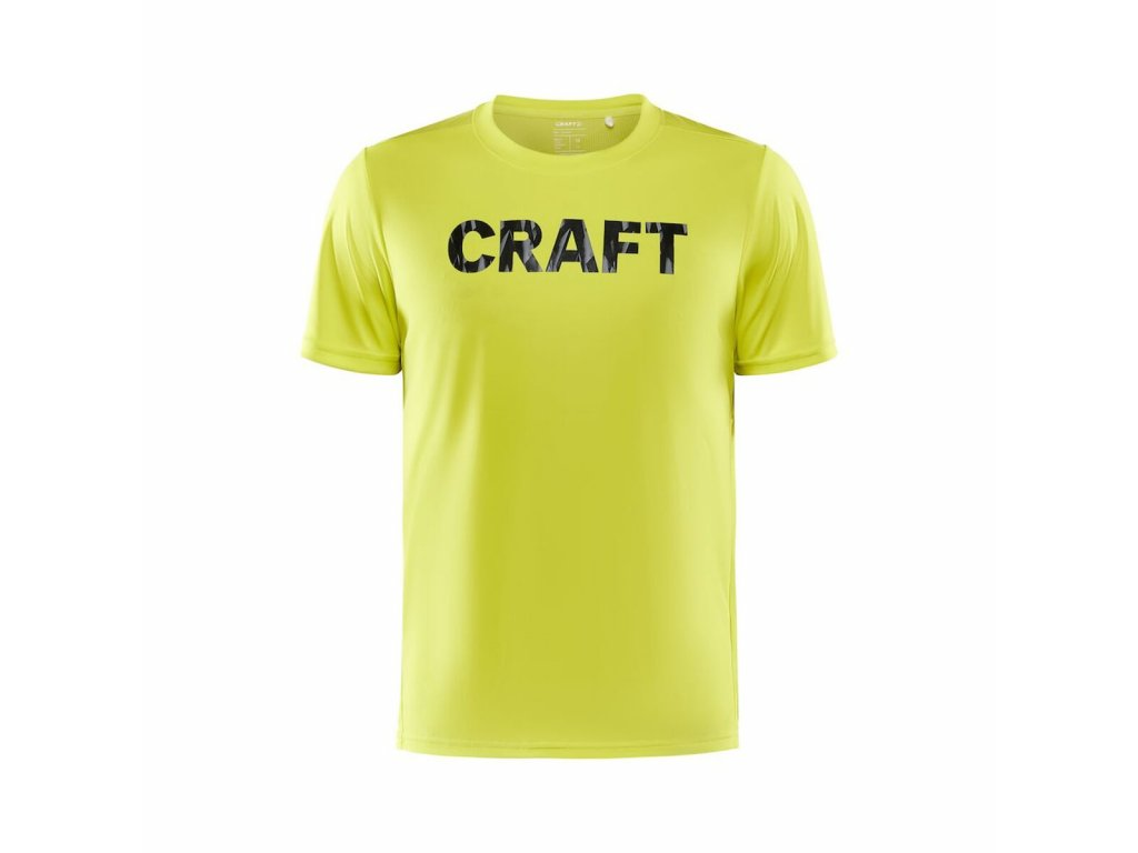 Pánské triko CRAFT Core Charge yellow