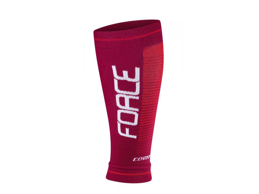 návleky na nohy FORCE COMPRESS, bordó červené