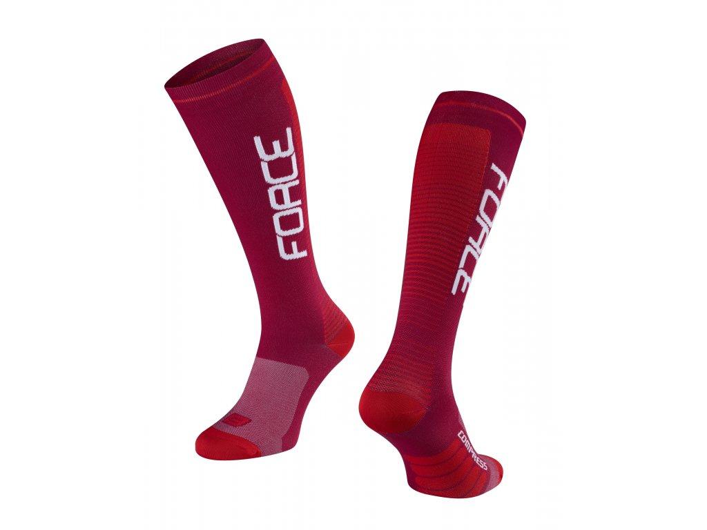 ponožky F COMPRESS, bordó červené