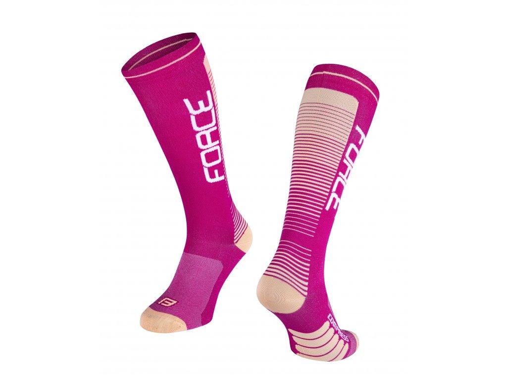 ponožky F COMPRESS, fialovo meruňkové