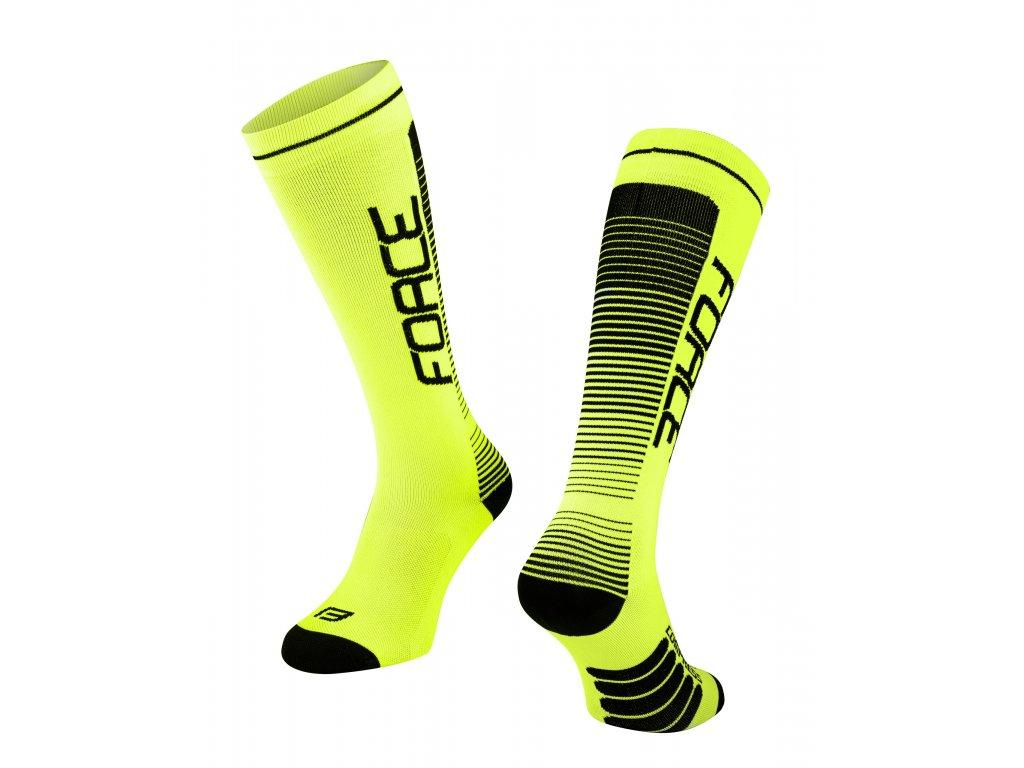 ponožky F COMPRESS, fluo černé