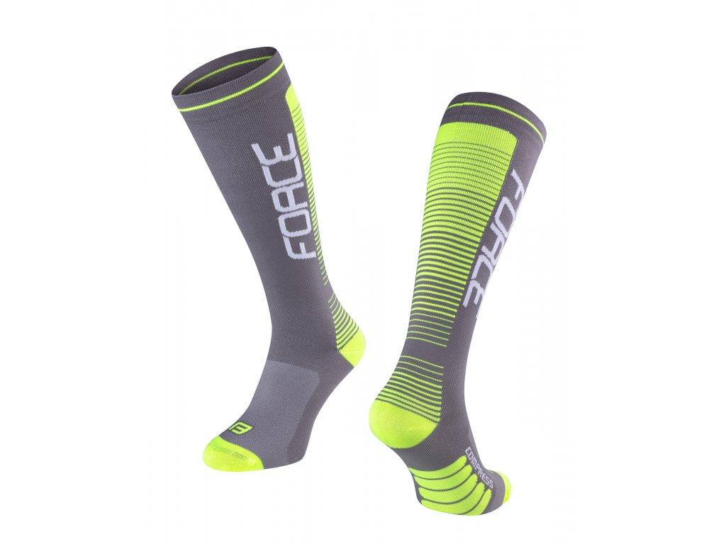 ponožky F COMPRESS, šedo fluo