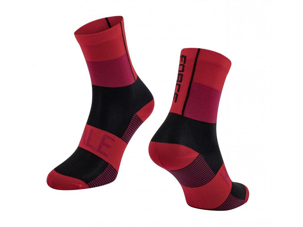 ponožky FORCE HALE, červeno černé