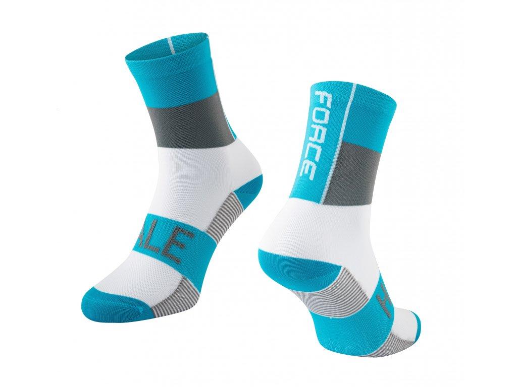 ponožky FORCE HALE, modro šedo bílé