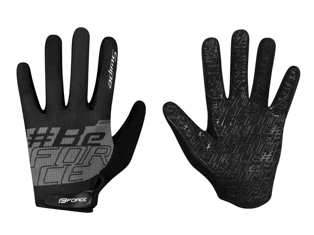 rukavice FORCE MTB SWIPE letní,černo šedé