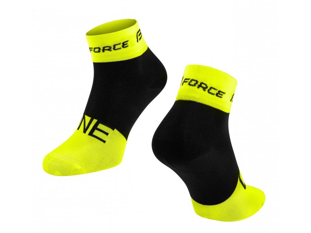 ponožky FORCE ONE, fluo černé